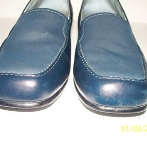 Aravon Shoes - Aravon Navy Blue Slip On Leather Shoes Loafers 9D